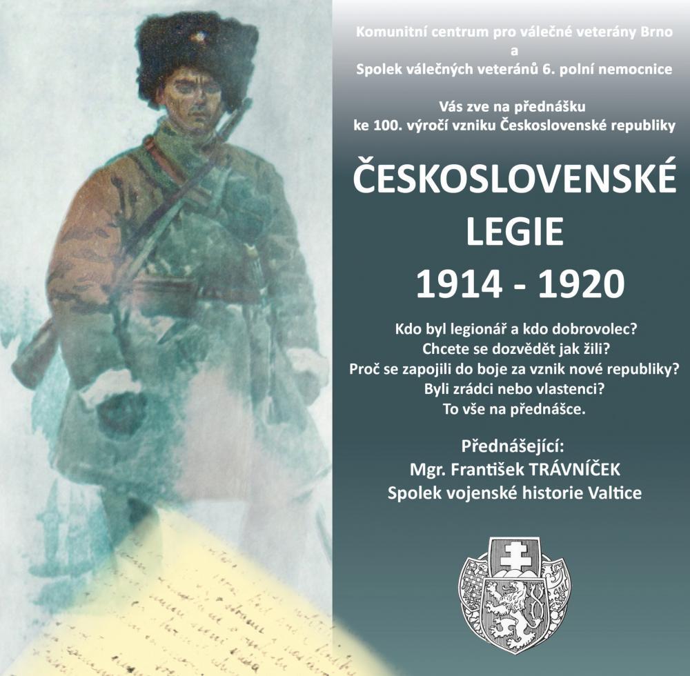 Beseda - Československé legie 1914-1920 15.11.