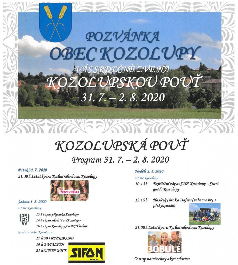 Kozolupská pouť 31.7.-2.8.