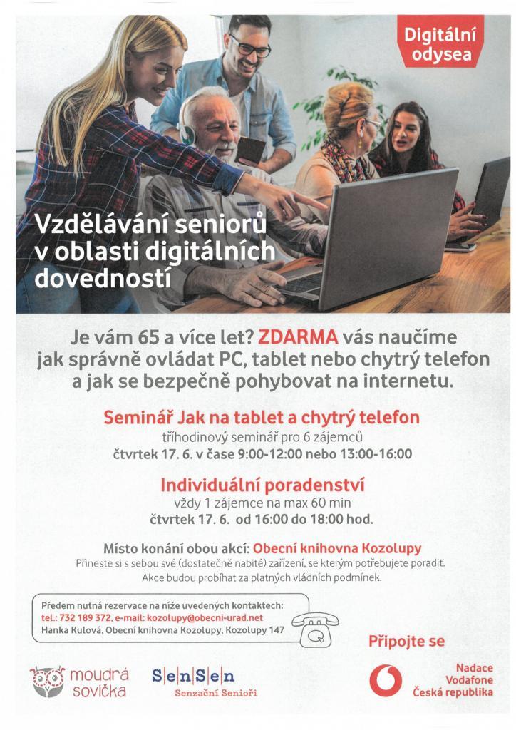 Digitální odysea - vzdělávání seniorů