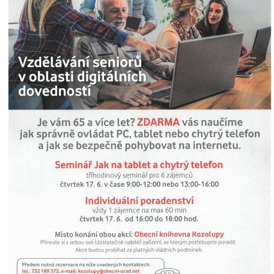 Digitální odysea - vzdělávání seniorů 1