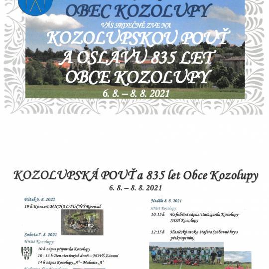 Kozolupská pouť a oslavy 835 let Obce Kozolupy 1