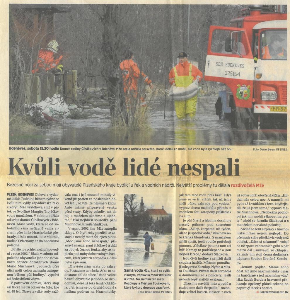 Povodně 20111. část (Mladá fronta 17.1.2011) 1
