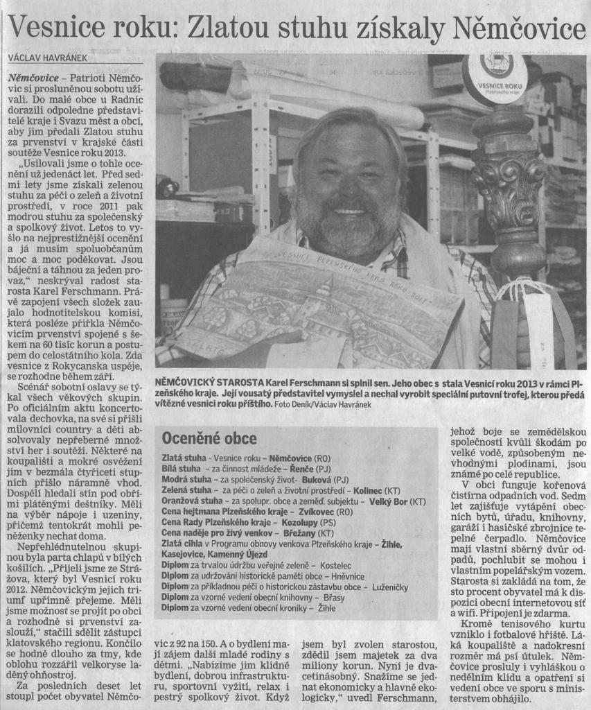 Cena Rady Plzeňského kraje (Deník) 1
