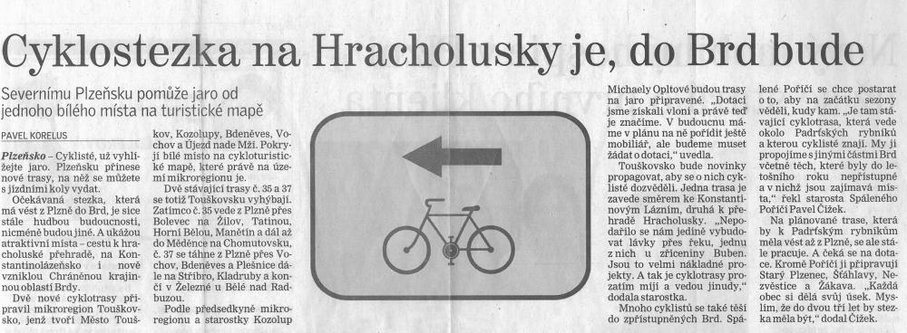Cyklostezka naHracholusky je, doBrd bude (Deník) 1